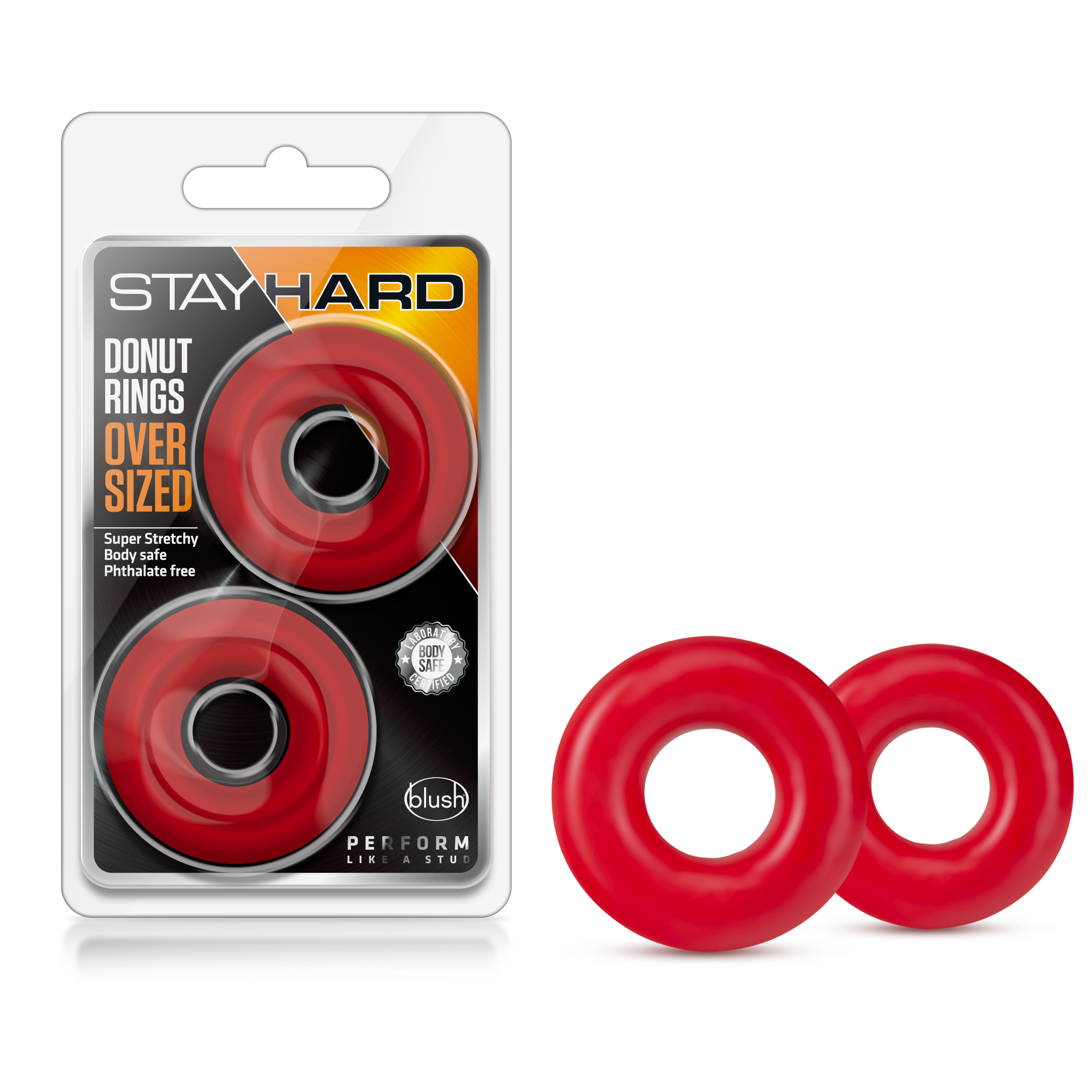 Stay Hard - Donut Rings Oversized - Red