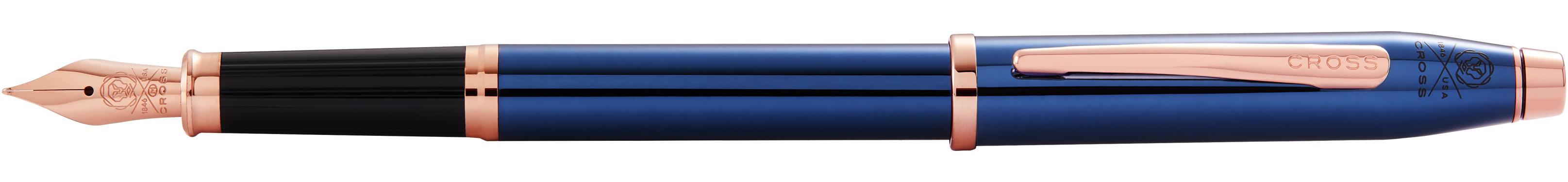 Century II Translucent Cobalt Blue Lacquer Fountain Pen