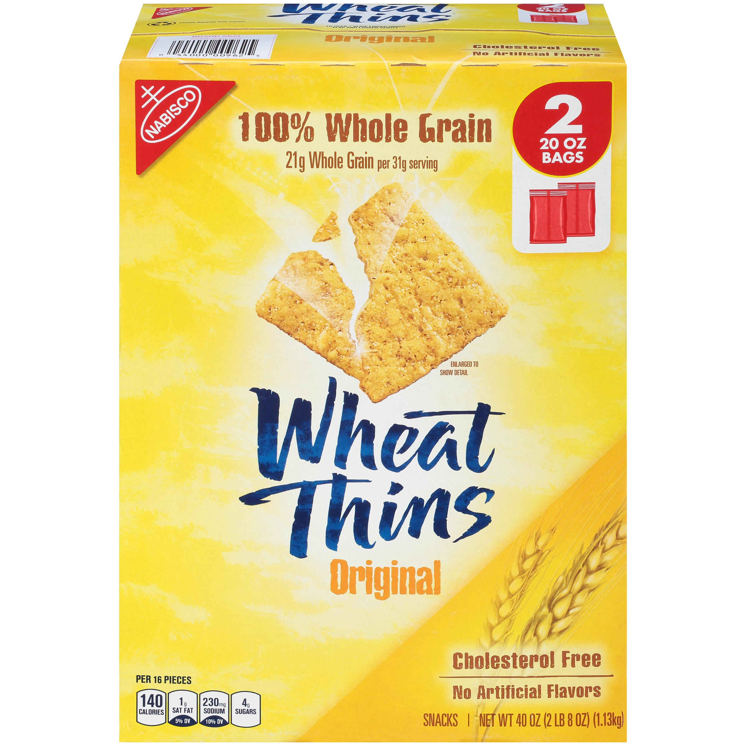 WHEAT THINS Supercarton Crackers 40 oz