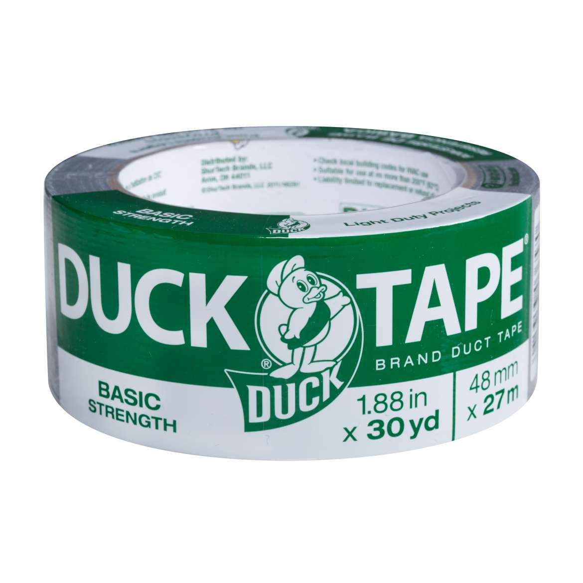 Basic Strength Duck Tape® Brand Duct Tape - Silver, 1.88 in. x 30 yd. Image