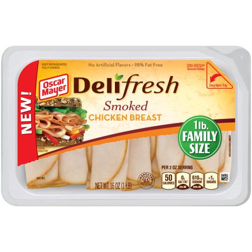 OSCAR MAYER Deli Fresh Smoked Chicken Breast 16oz Tray