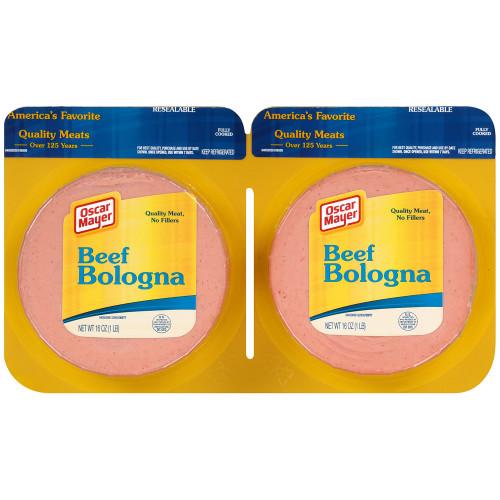 Oscar Mayer Beef Bolognas, 2 - 16 oz