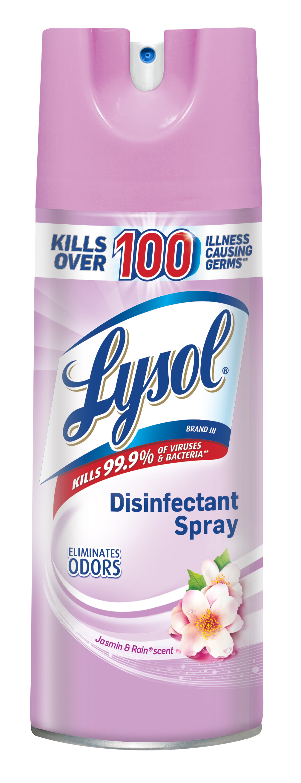 Lysol Disinfectant Spray, Jasmine & Rain, 12.5oz