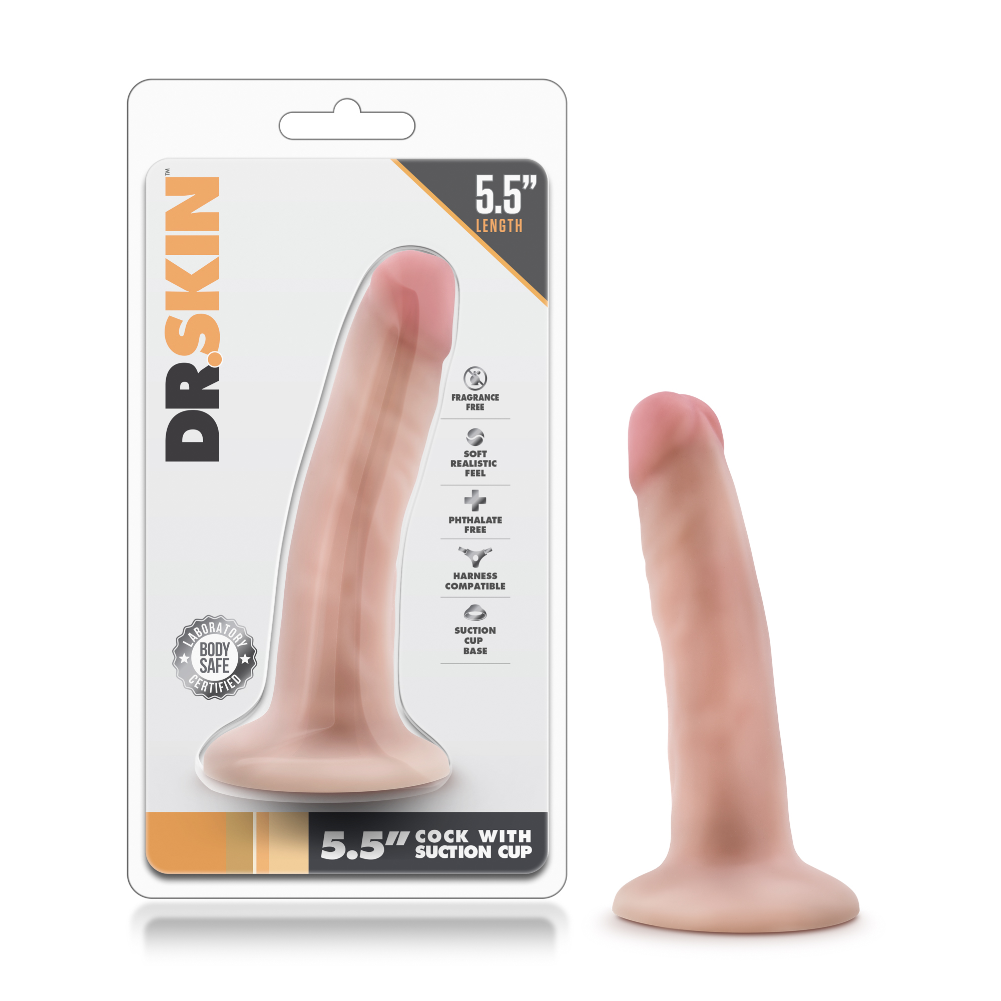 Dr. Skin - 5.5 Inch Cock With Suction Cup - Vanilla