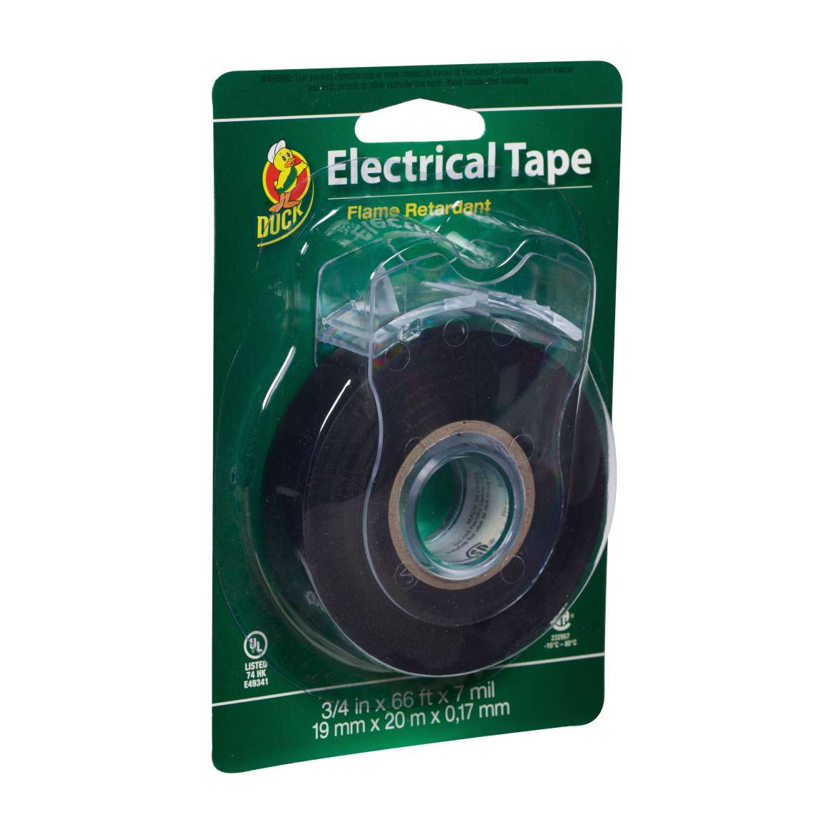 Duck® Brand Professional Electrical Tape with Dispenser - Black, .75 in. x 66 ft. x 7 mil. Image
