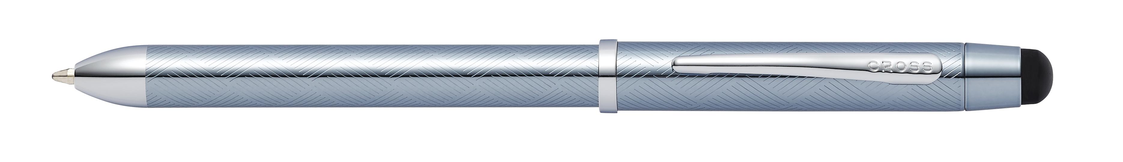 Tech3+ Frosty Steel Lacquer Multifunction Pen