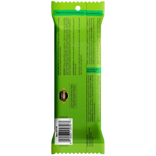 Back-Image showing Crunch Sticks Popped Grains & Honey Flavor