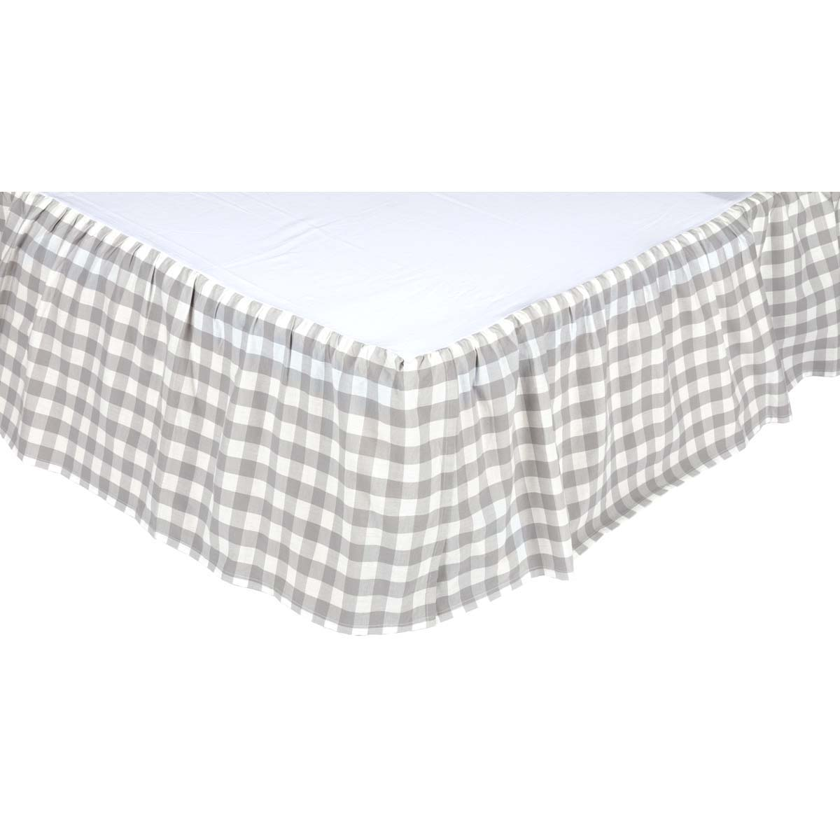 Annie Buffalo Grey Check Queen Bed Skirt 60x80x16
