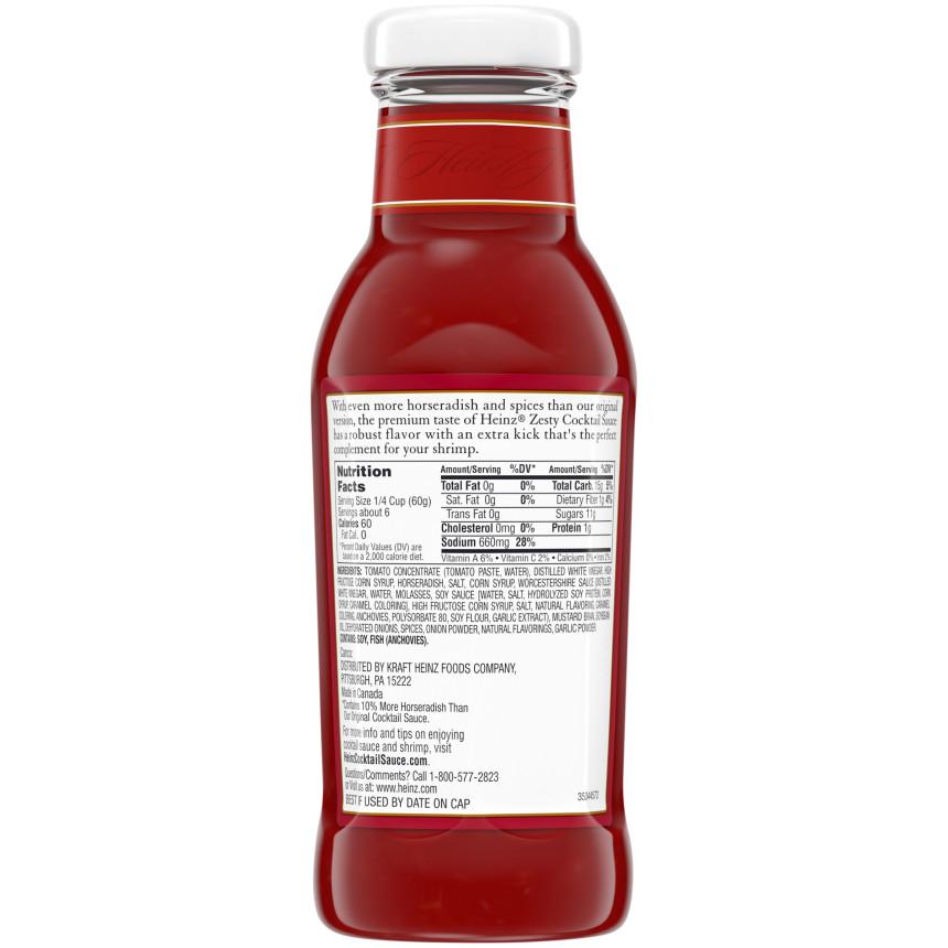 Heinz Zesty Cocktail Sauce 12 oz. Bottle