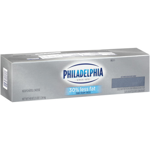 PHILADELPHIA Neufchatel Cheese, 3 lb. Loaf (Pack of 6)