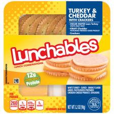 Oscar Mayer Lunchables Turkey & Cheddar with Crackers 3.2 oz Tray
