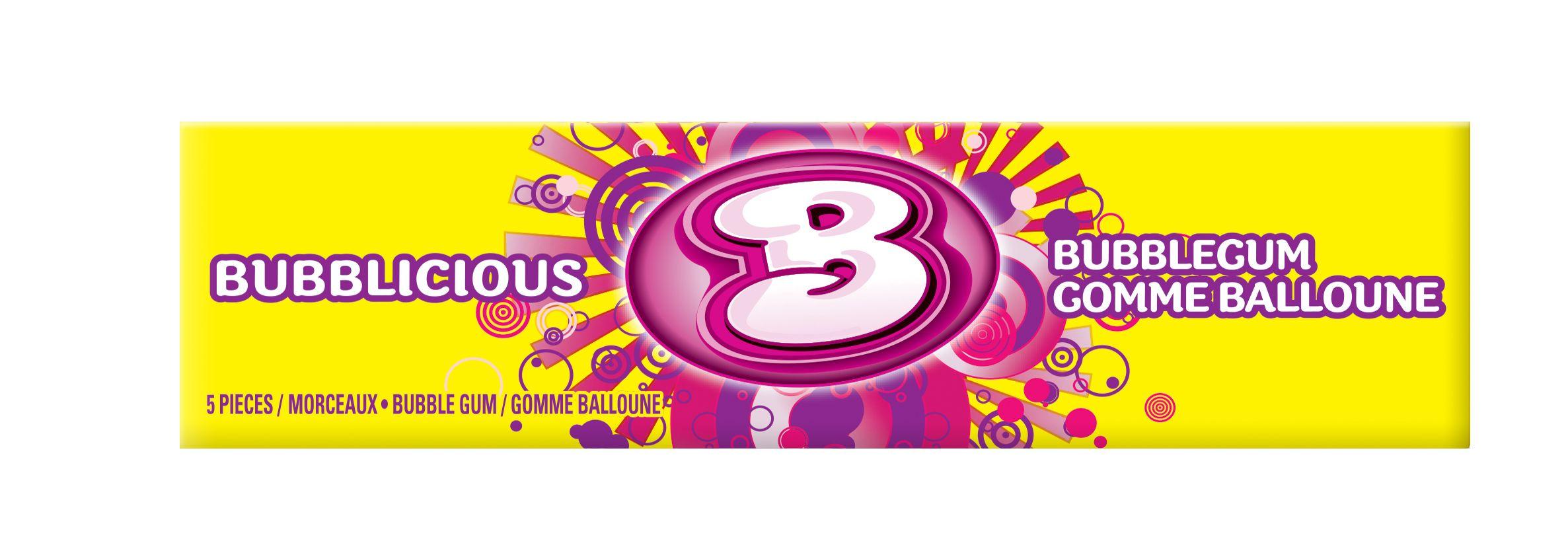 Bubblicious Original Gum 5 Count