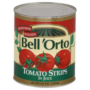 Bell 'Orto Peeled Tomatoes Strips In Juice 102 oz Can image