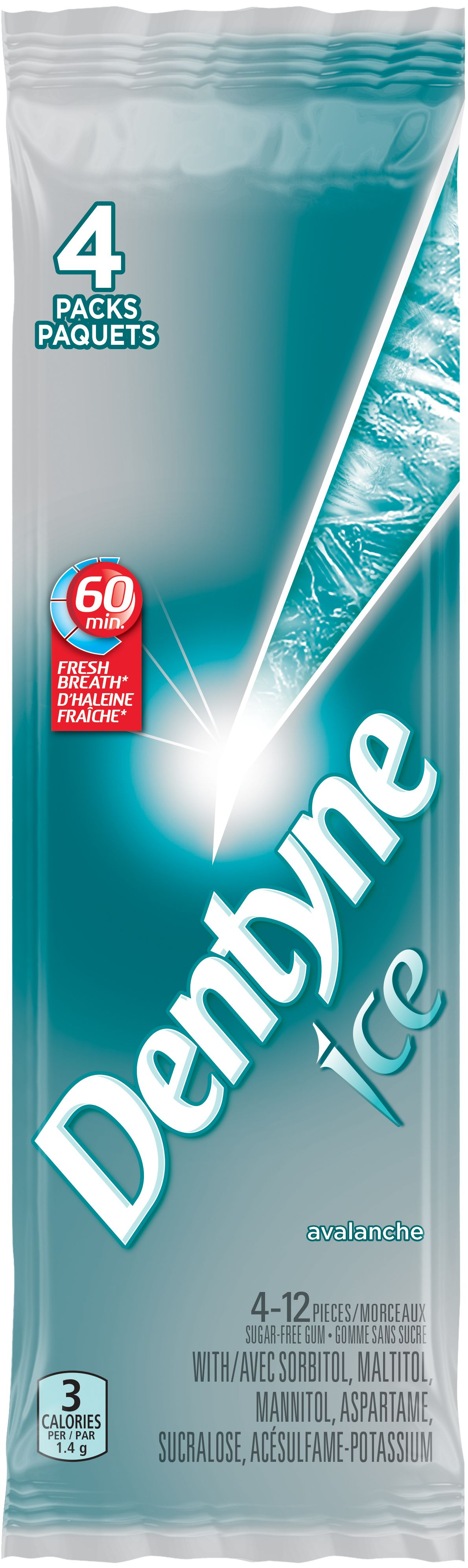 Dentyne Ice Avalanche Mint Gum 48 Count