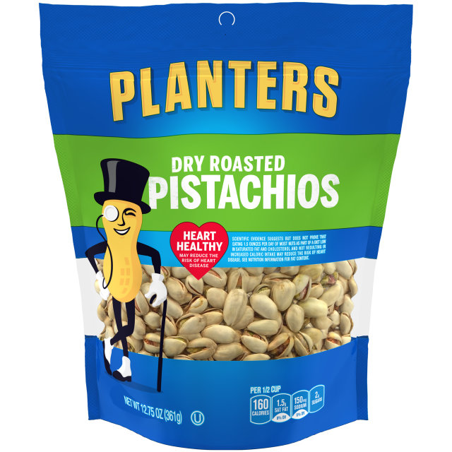 PLANTERS Dry Roasted Pistachios 12.75 oz Bag image