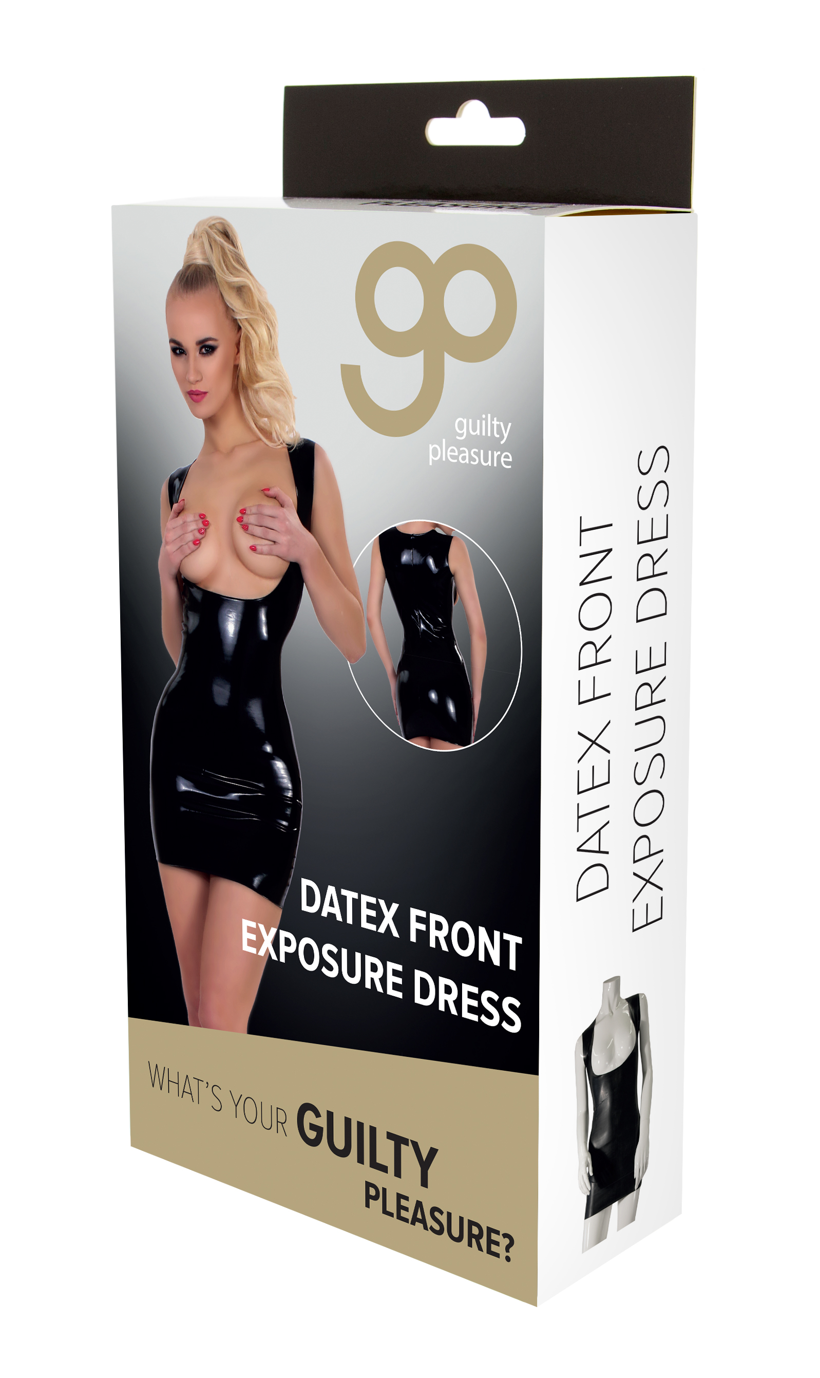 Guilty Pleasure - Datex Front Exposure Dress - L - Black