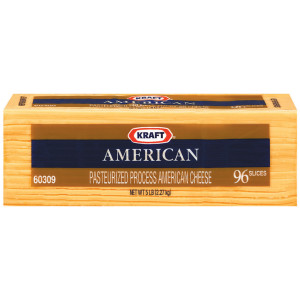 KRAFT American Sliced Cheese (96 Slices), 5 lb. (Pack of 4) image