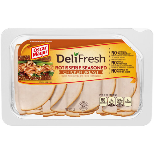 Oscar Mayer Deli Fresh Rotisserie Chicken Breast Tray, 9 oz