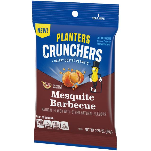 Planters Crunchers Snack Nuts Mesquite BBQ 2.25 oz Bag