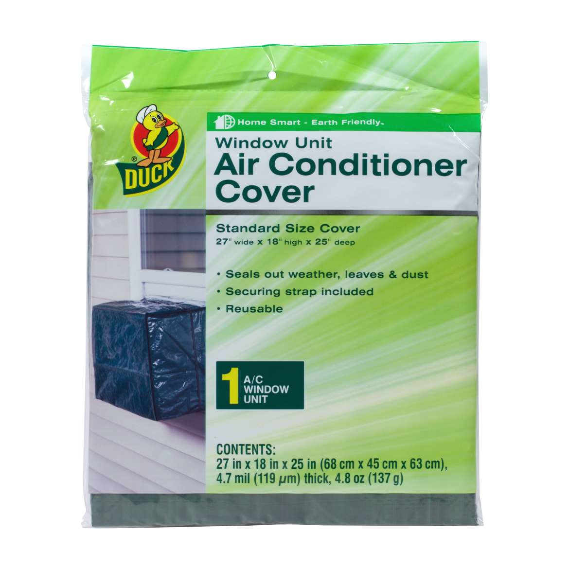 Duck® Brand Window Air Conditioner Cover, Outdoor - 27 in. x 18 in. x 25 in. Image