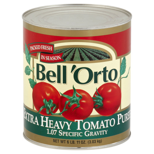 BELL ORTO Extra Heavy Tomato Puree, 107 oz. Can (Pack of 6)