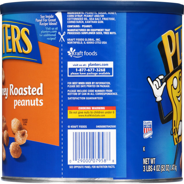 PLANTERS Honey Roasted Peanuts 52 oz Can