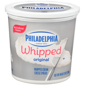 PHILADELPHIA Original Whipped Cream Cheese Spread, 48 oz. Tub (Pack of 6) image