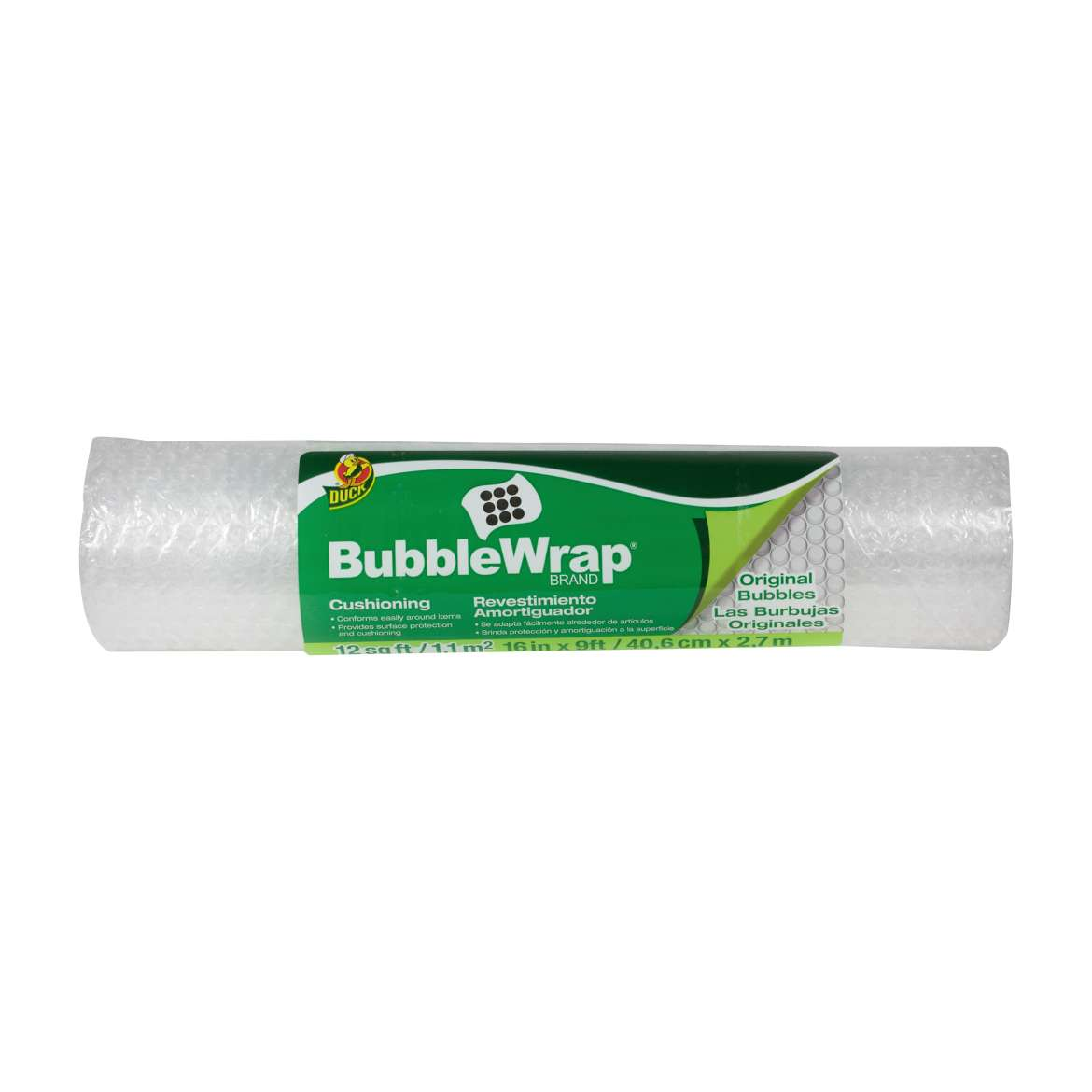 Duck® Brand Original Bubble Wrap® Cushioning - Clear, 16 in. x 9 ft. Image