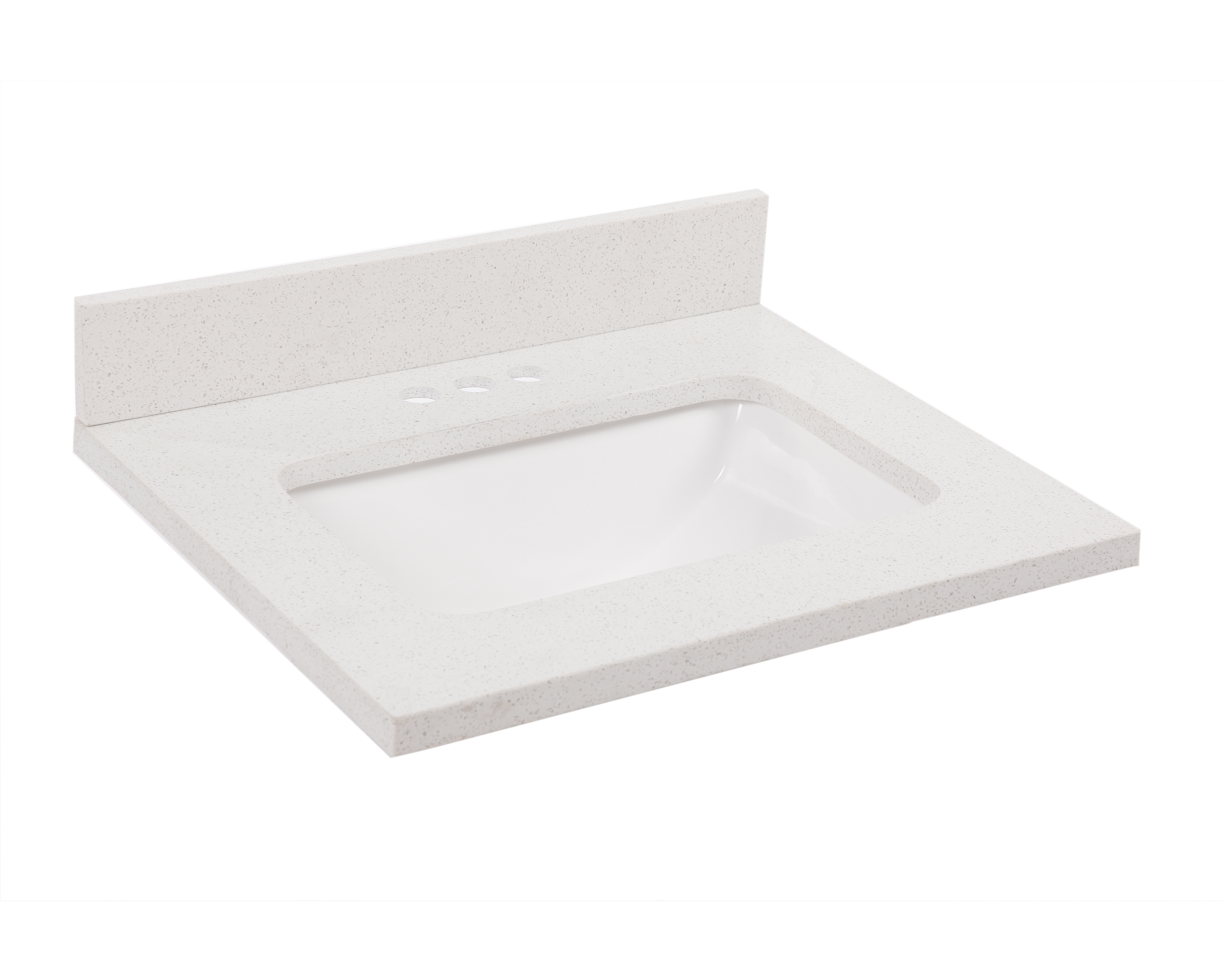 Quartz Single Bowl Vanity Top 49x22, Snowdrift #563601