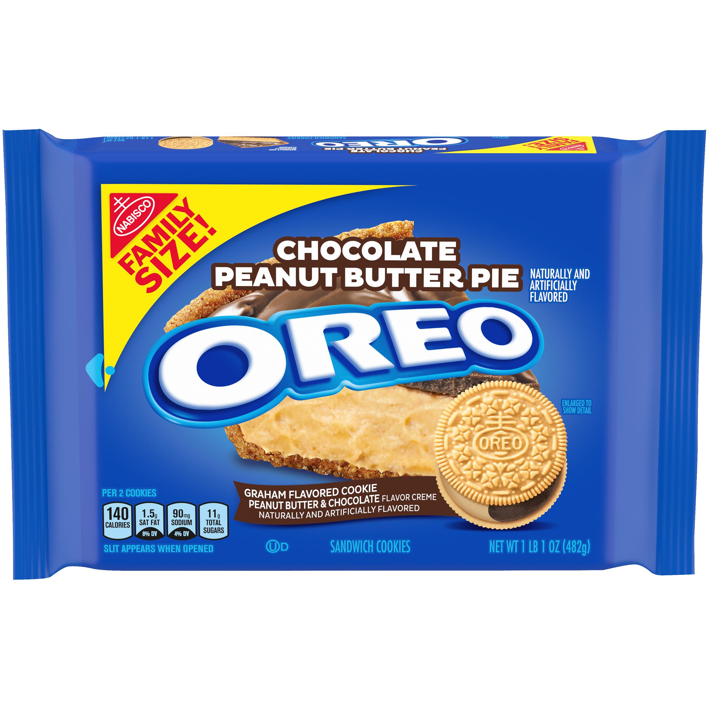 OREO Chocolate Peanut Butter Pie Sandwich Cookies 17 oz