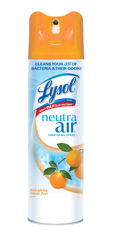 Lysol Neutra Air Sanitizing Spray, Citrus Zest, 10oz, Air Freshener, Odor Neutralizer