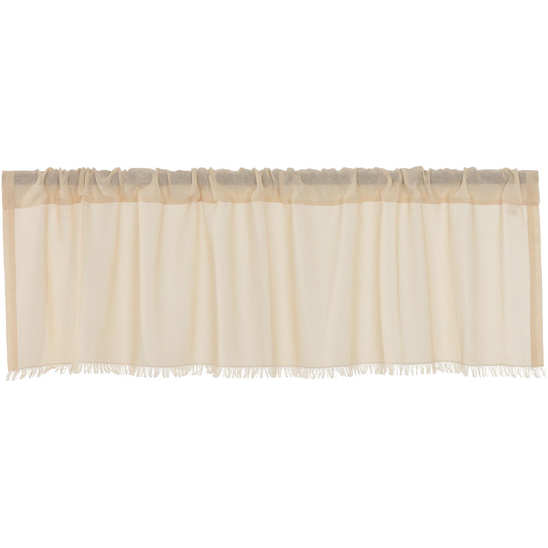 Tobacco Cloth Natural Valance Fringed 16x60