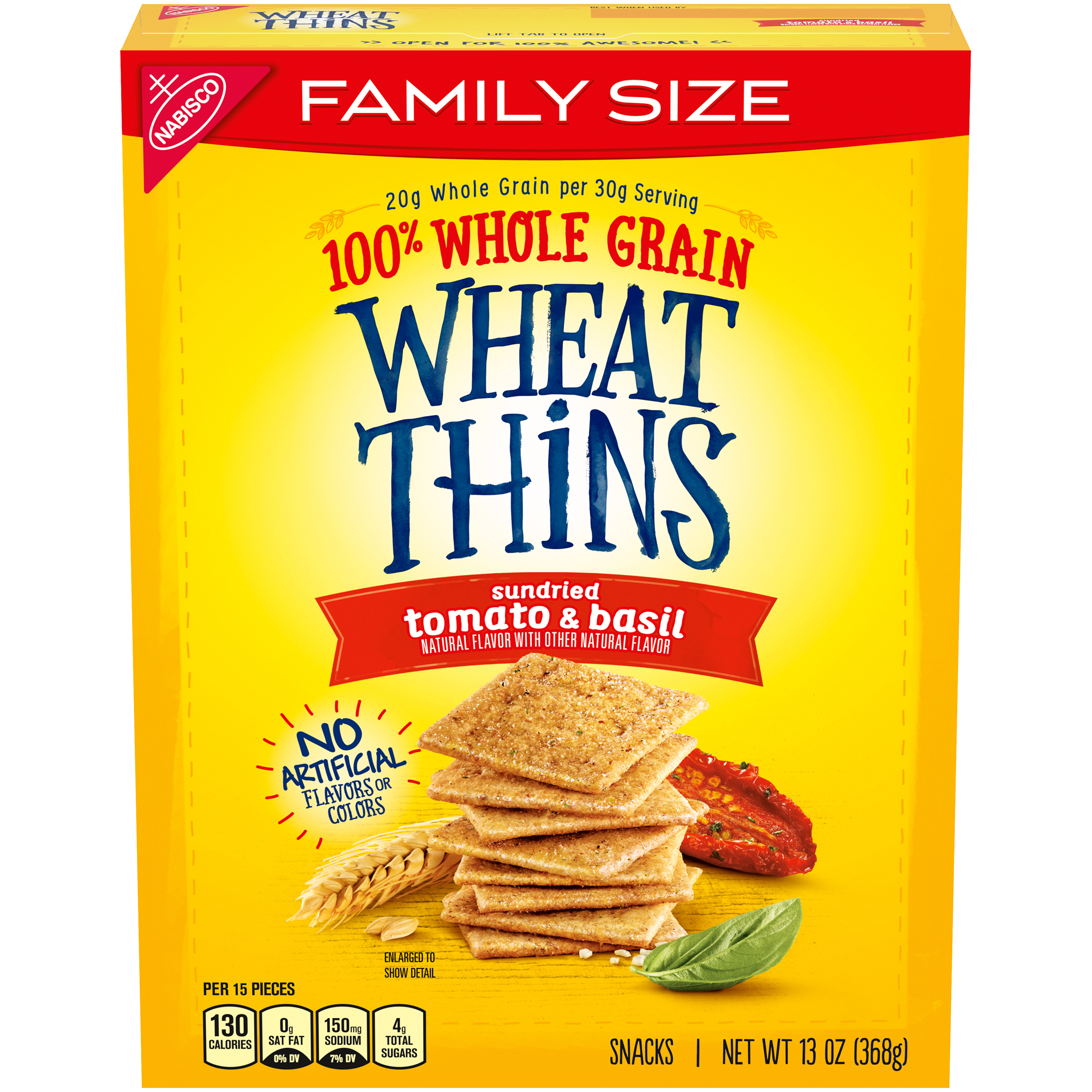 WHEAT THINS Sun Dried Tomato & Basil Crackers 13.0 Oz