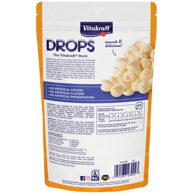 Back-Image showing Drops with Yogurt