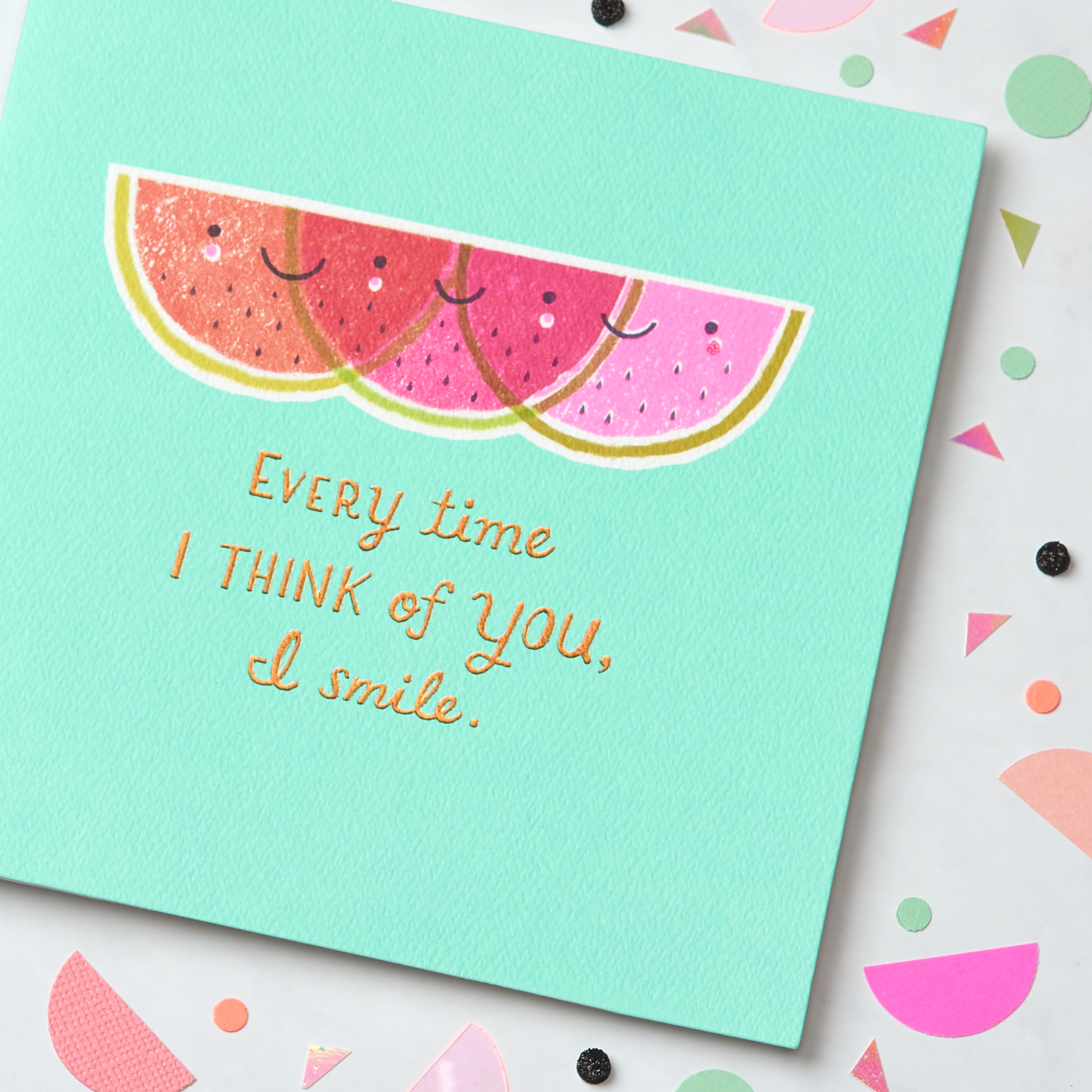 Watermelon Greeting Card - Birthday, Thinking of You, Encouragement image