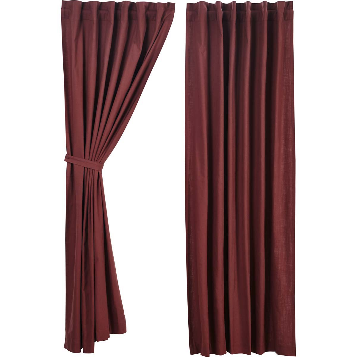 Regina Red Panel Set of 2 84x40