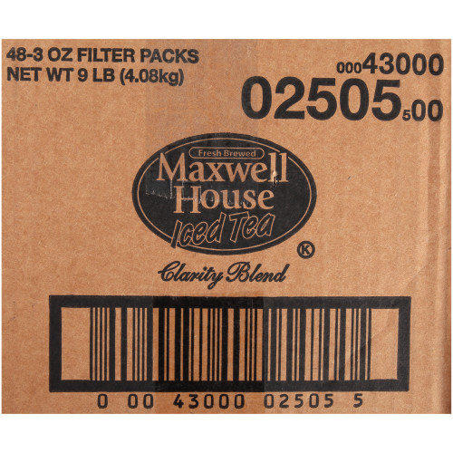 MAXWELL HOUSE Iced Tea Clarity Filter, 3 oz. Bag (Pack of 48)