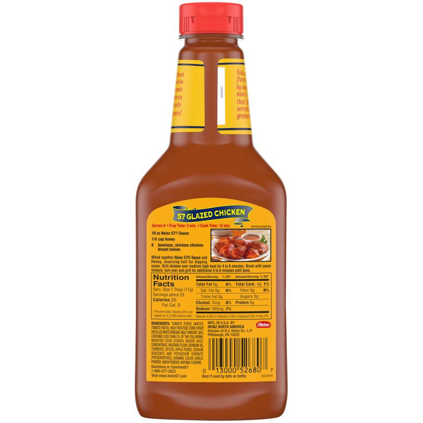 Heinz 57  Steak Sauce 20 Oz Plastic Bottle