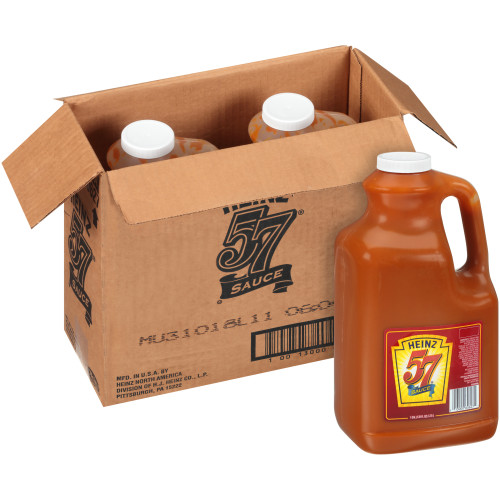 HEINZ 57 Sauce Plastic Jug, 1 gal. Container (Pack of 2)