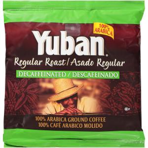 YUBAN Regular Roast & Ground Decaf Coffee Bags, 7 oz. Bag (Pack of 19) image