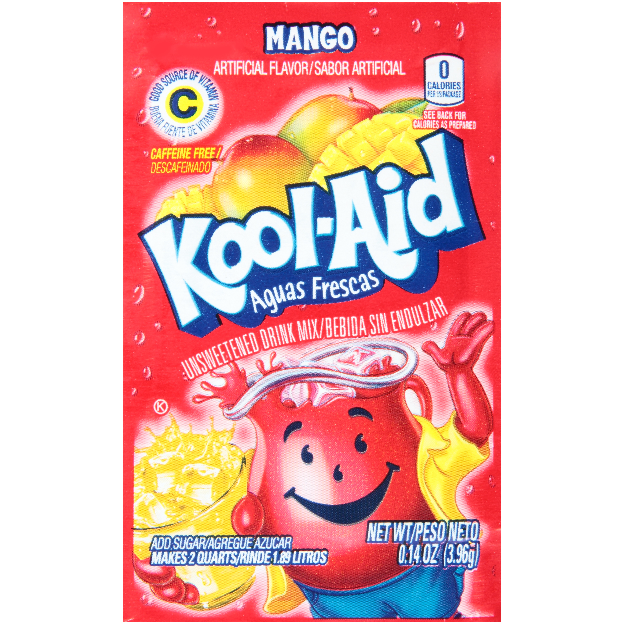 KOOL-AID Aguas Frescas Mango Drink Mix Unsweetened  0.14 oz Packet image
