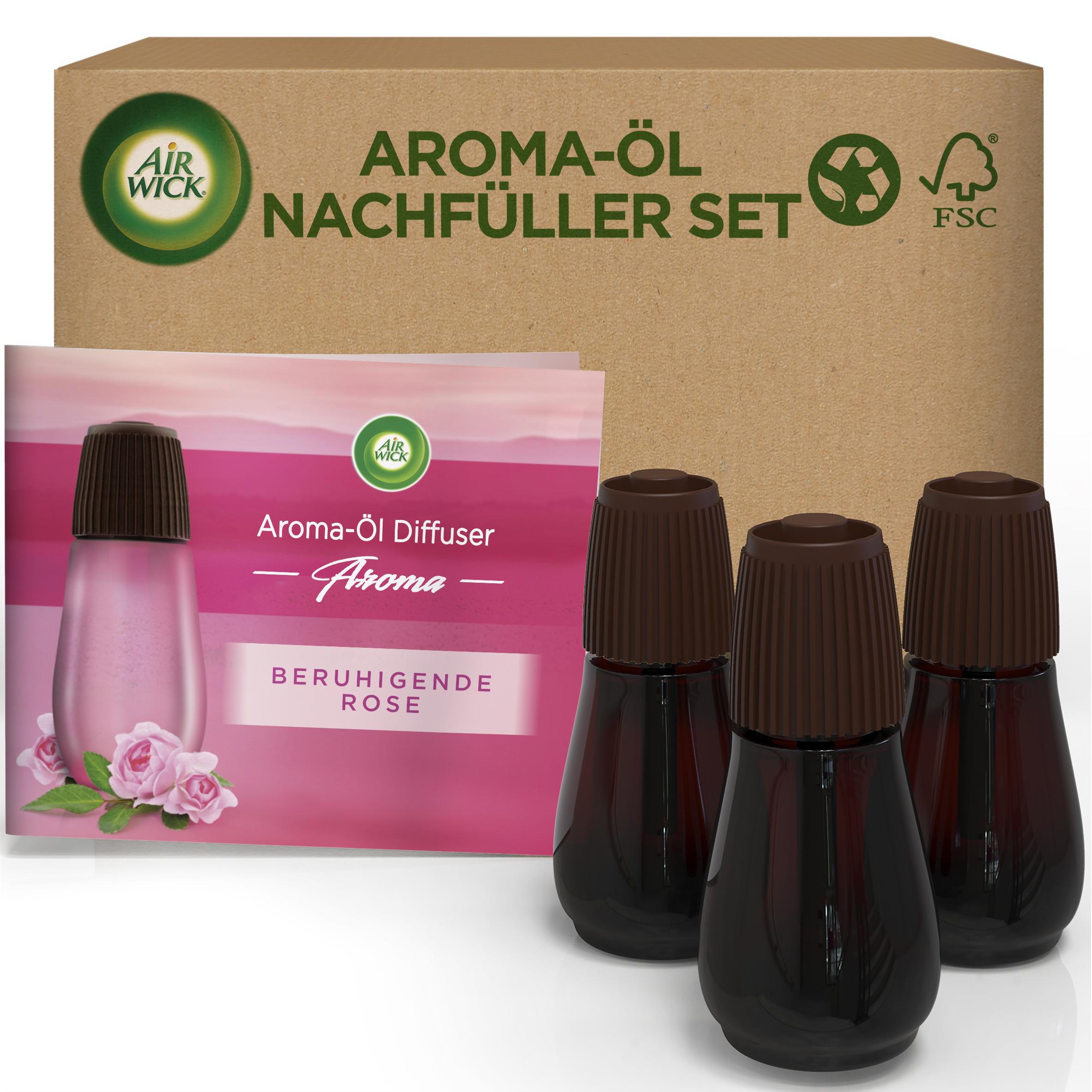 Air Wick Aroma-Öl Diffuser eCom Nachfüller-Set Beruhigende Rose
