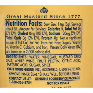 Grey Poupon Dijon Mustard Squeeze Bottle, 10 oz. image