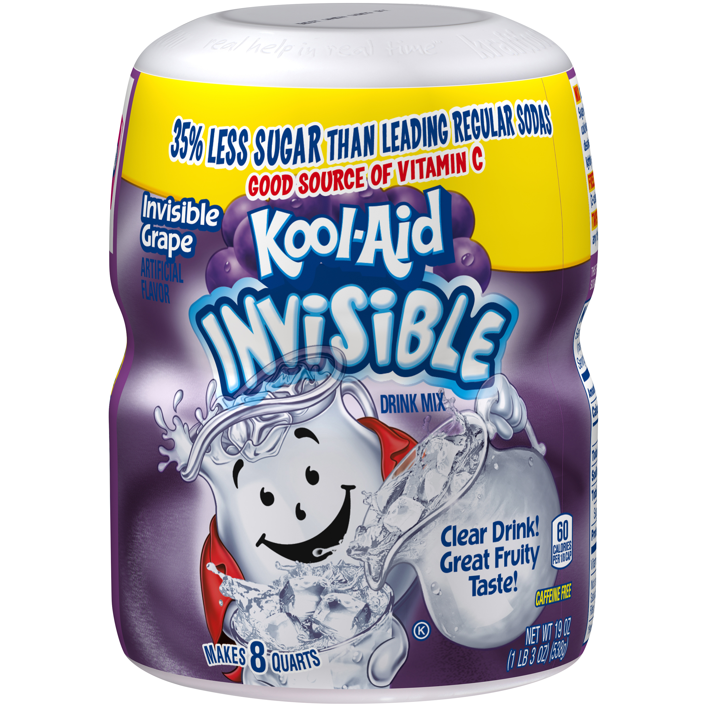 KOOL-AID Invisible Grape  Drink Mix Sugar Sweetened 19 Oz Canister image