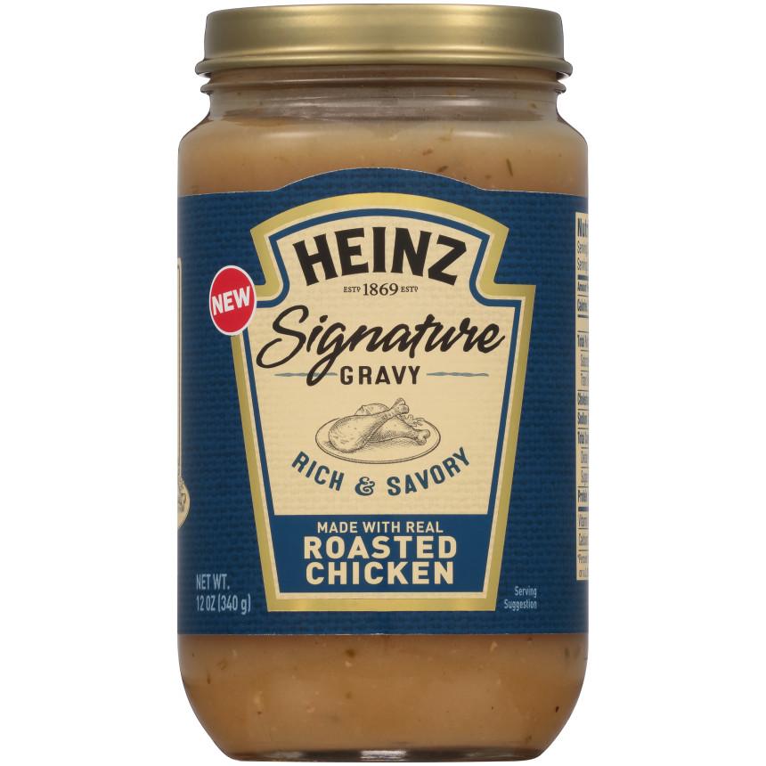 Heinz Signature Rich & Savory Roasted Chicken Gravy 12 oz Jar