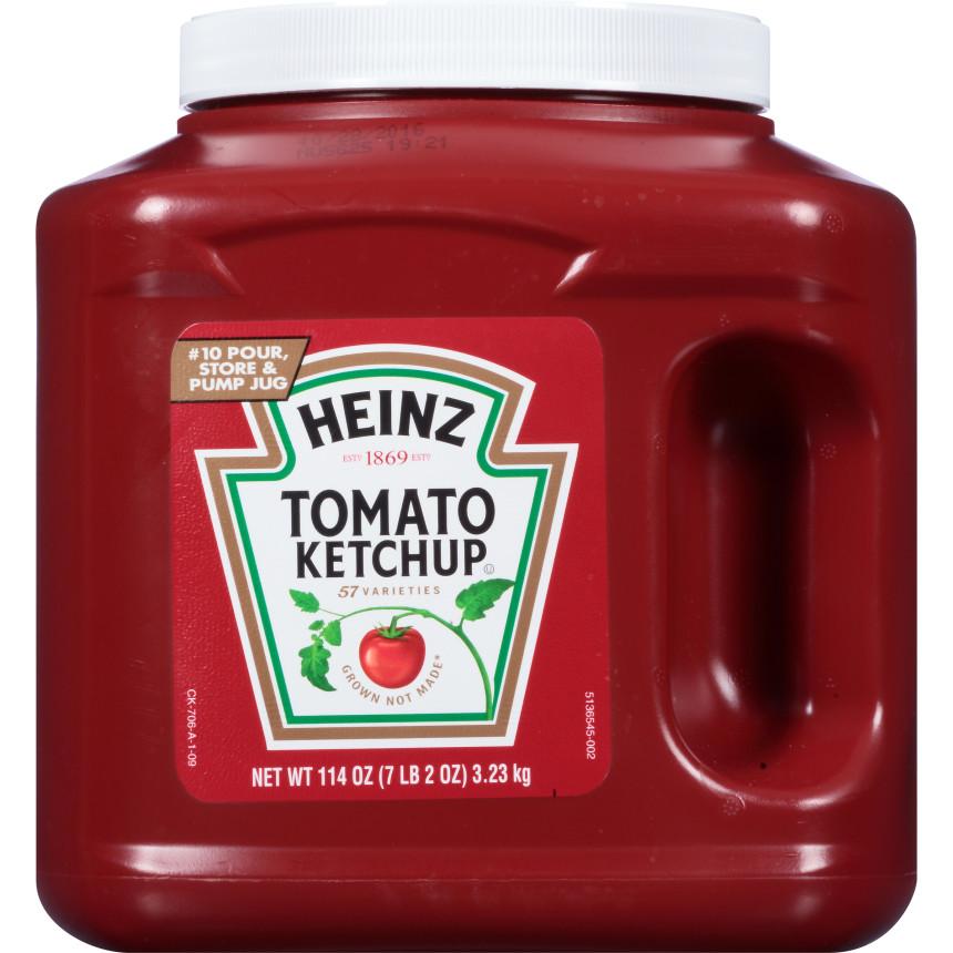 Heinz Tomato Ketchup, 6 - 114 oz Jugs image