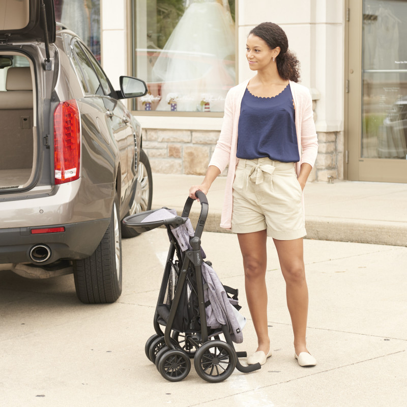 Sibby™ Travel System with LiteMax 35 Infant Car Seat (Charcoal) Lifestyle Photo