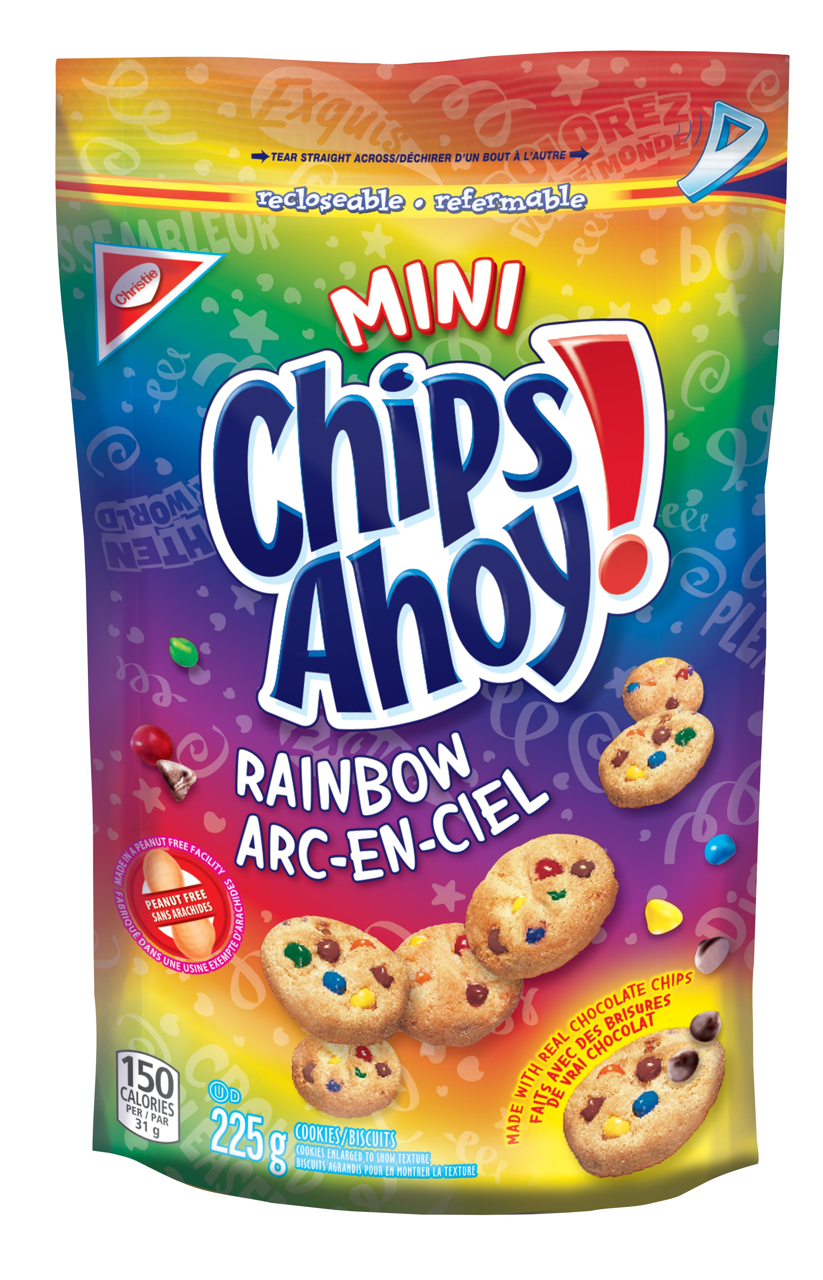 CHIPS AHOY!  RAINBOW 225 GRM