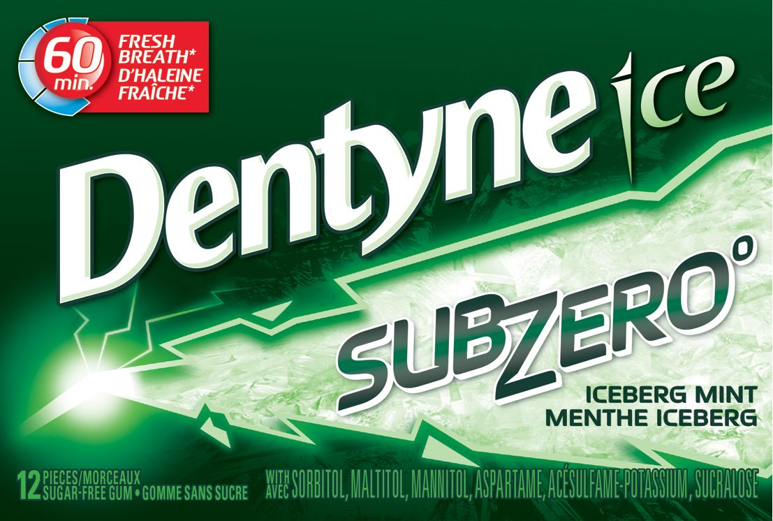 DENTYNE Ice ICEBERG MINT 12 1N