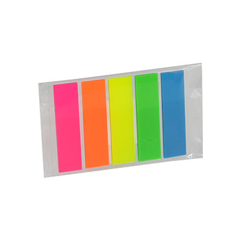 Pencil Cases Index Sticky Notes 5 Colour Neon 48-12mm